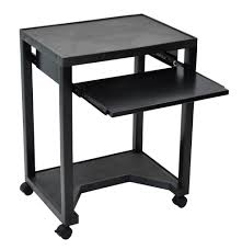 Mobile Computer Desks For Home Furniture Black Mobile Computer Desk With Pull Out Shelves For