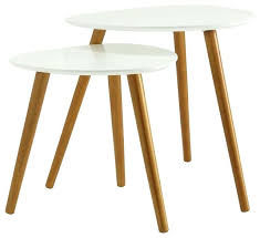 side table set of 2 side table set of 2 tables set 2 side table white wwwkainterional