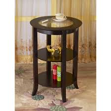 glass top end table with drawer espresso frenchi home furnishing genoa espresso end table mh301 the home depot