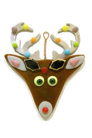 fused glass by celeste glass reindeer ornament from washington by