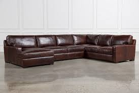 real leather sectional sofa leather sectional sofas living spaces