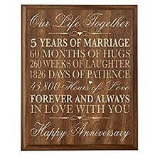 5th wedding anniversary gifts for him 5th wedding anniversary wall plaque gifts for