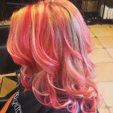peachy coral pink lemonade hair perfect menu of services i u0027d