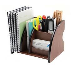 Paper Desk Organizer Wooden Desk Organizer Paper Holder Stand Office Supplies