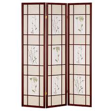 Home Decorators Reviews Home Decorators Collection 5 83 Ft Cherry 3 Panel Room Divider