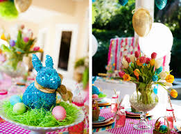 Easter Bunny Decorations Home by Engaging Spring Flower Garden Table Decorations With Easter Diy
