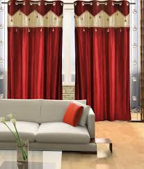 home candy set of 2 door eyelet curtains contemporary red buy