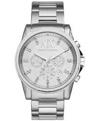 mens stainless steel bracelet watches images Lyst armani exchange a x men 39 s stainless steel bracelet watch jpeg