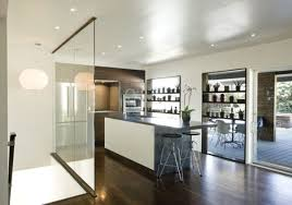 glass room dividers for modern kitchen designs ideas with wood