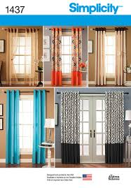 simplicity 1437 window treatments in two lengths with grommet tops