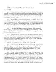Commercial Lease Termination Agreement Appendix C Sample Power Purchase Agreement Developing A