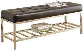 varick gallery metal storage bench u0026 reviews wayfair
