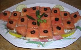 canapé saumon canapés au saumon fumé