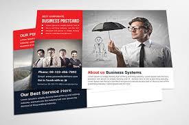 business postcard template print giants