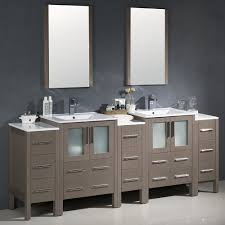 84 Bathroom Vanity Fresca Fvn62 72go Uns Torino Gray Oak Double Basin Bathroom Vanity