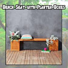 bench seat with planter boxes outdoor garden deck furniture