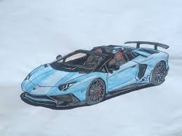 lamborghini sketch side view drawn ferarri lamborghini aventador pencil and in color drawn