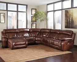 Ashley Furniture Leather Sectional With Chaise Decor Brown Leather Sectional Sofa With Audio Center For Modern