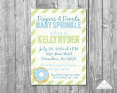 boy baby sprinkle invitation diaper and donuts invitation diaper