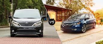 2015 minivan toyota sienna vs 2015 honda odyssey