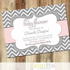 pink and grey baby shower best chevron pink baby shower invitation products on wanelo