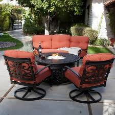 patio furniture with fire pit table outdoor patio furniture with fire pit home site