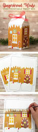 free printable gingerbread house treat box this is the cutest way
