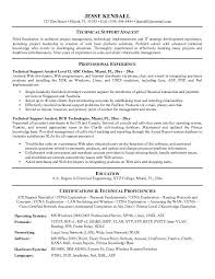 Technical Support Resume Template Technical Support Resume Sle Thebridgesummit Co