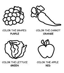eating healthy food fruits and vegetables coloring pages