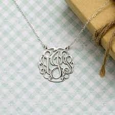 Three Initial Monogram Necklace Guaranteed Christmas Delivery To Usa Orders This Monogram