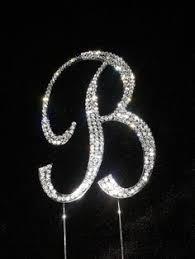 b cake topper new diamante letter cake topper initials rhinestone