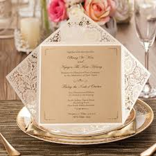 Event Invitation Cards Aliexpress Com Buy 50pcs Gold White Black Design Rustic Marriage