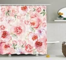 Pink Flower Shower Curtain Pink Shower Curtain Promotion Shop For Promotional Pink Shower