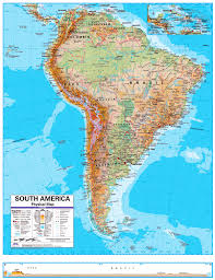 North And South America Map by South America Map Map Of South America Physical Map Of South