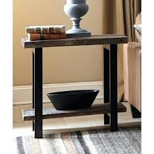 wood metal end table wood metal end table the gray barn metal and reclaimed wood end