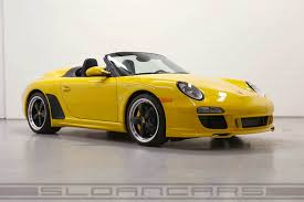 porsche 914 yellow 2011 porsche 997 speedster pts speed yellow 905 miles sloan cars