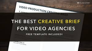 the best creative brief template for video agencies free download