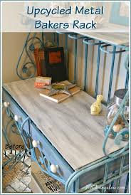 Small Bakers Rack With Drawers Metal Bakers Rack Makeover