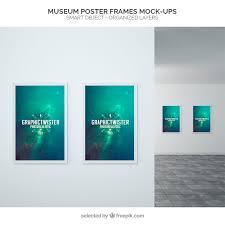 design templates photography free photo frame mockups museum poster frames mockup psd file free download