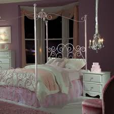 standard furniture princess canopy bed in pink metal beyond stores