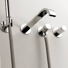 bathtub faucet wall mount awesome lacava arch wall mount tub faucet with hand shower modern