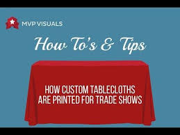 Custom Table Cloths by Custom Tablecloths U0026 Trade Show Table Covers Mvp Visuals