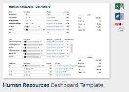 hr dashboard template 23 free word excel pdf documentssample