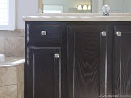 gray stained kitchen cupboards refinish bathroom vanity diy project how to stain oak cabinets