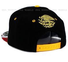 Black Flag Hat Flag Hat Mexico Gold Embroidered Snapback Baseball Cap Flat Bill