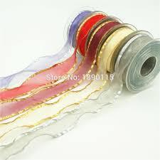 sheer organza ribbon 2rolls lot 1 25mm crash sheer organza ribbons gold silver gift