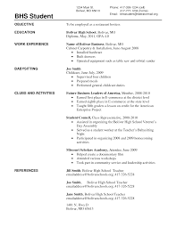 cover letter high resume for college examples high