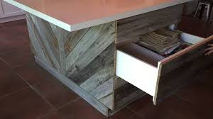 reclaimed wood kitchen island youtube