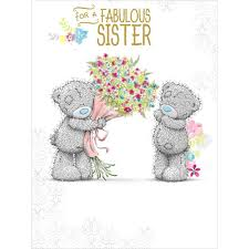 fabulous sister me to you bear large birthday card 3 59