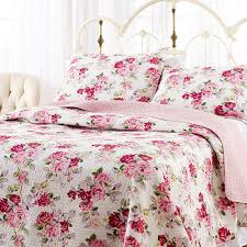 Laura Ashley Home by Laura Ashley Lidia Cotton Quilt Set King Amazon Co Uk Kitchen